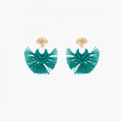 Clips d'oreilles verts Santiago