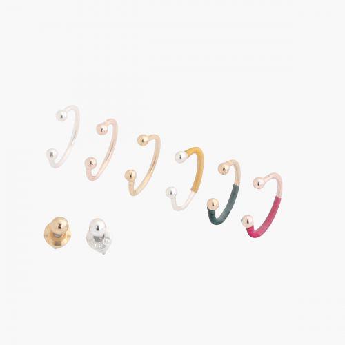 Set de bijoux d'oreilles doré Santiago
