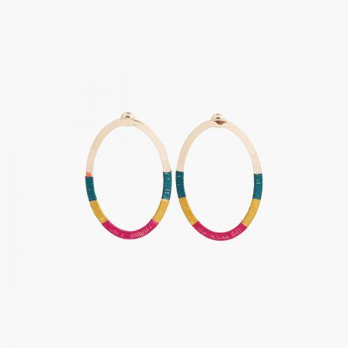 Boucles d'oreilles pendantes dorées Santiago