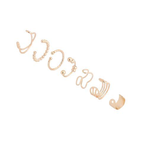 Set de bijoux d'oreilles doré Gold touch
