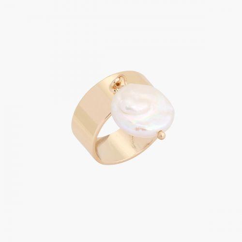 Bague dorée New Pearl