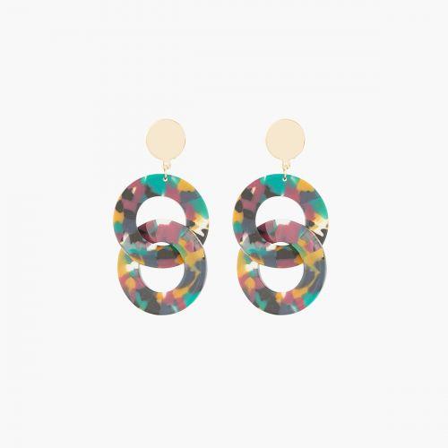 Boucles d'oreilles pendantes vertes Bar à clips