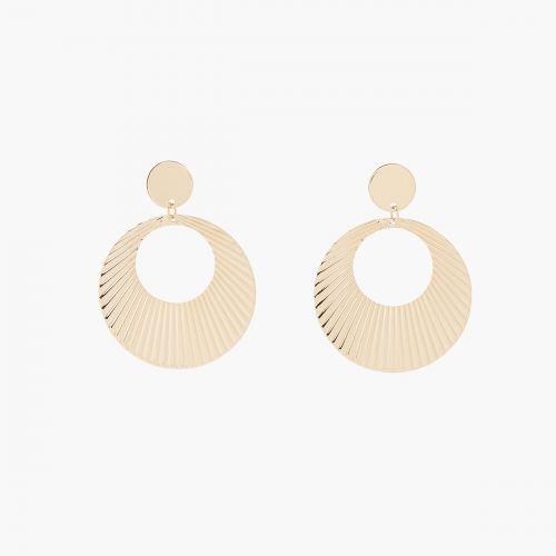 Boucles d'oreilles pendantes dorées Metallic style