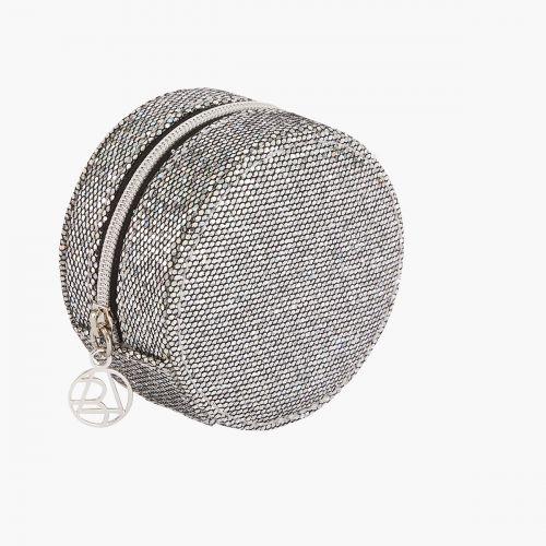 Boite à bijoux ronde à paillettes
