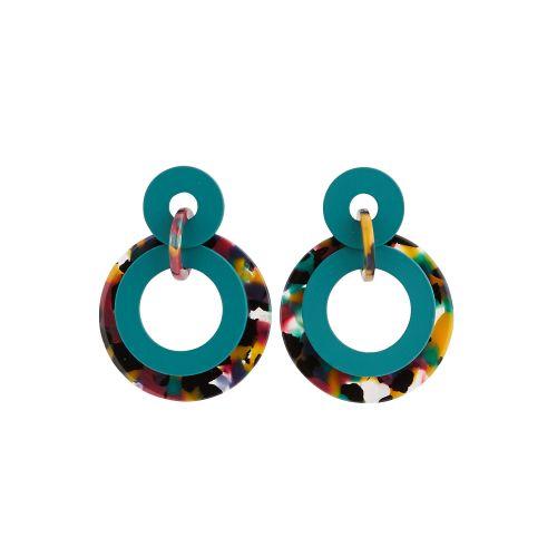 Boucles d'oreilles pendantes vertes Iconic B.O