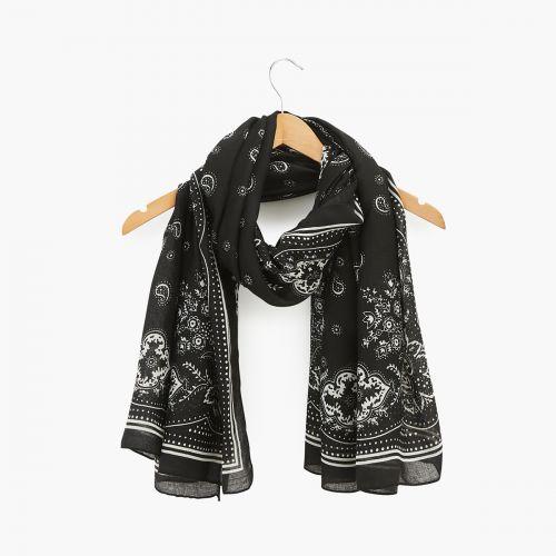 Foulard noir bandana