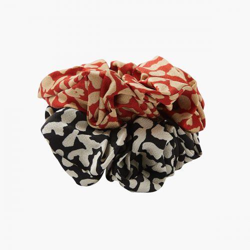 Set d'élastiques cheveux rouge