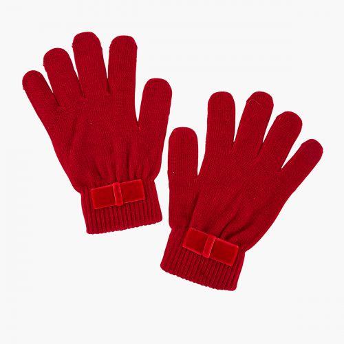 Gants magiques rouges avec noeud