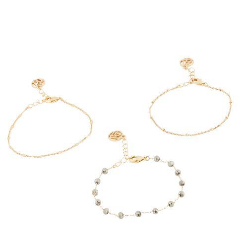 Set de bracelets doré Bali