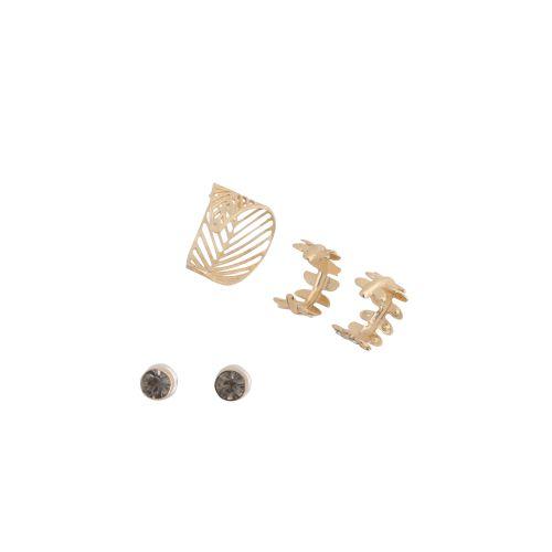 Set de bijoux d'oreilles doré Bali