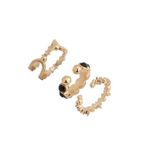 Set de bijoux d'oreilles doré Manhattan