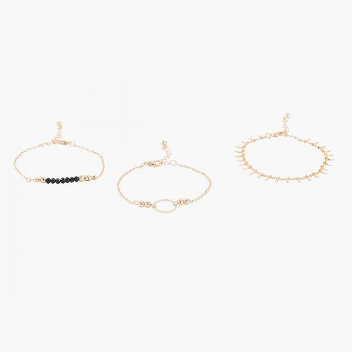 Set de bracelets fins doré Manhattan