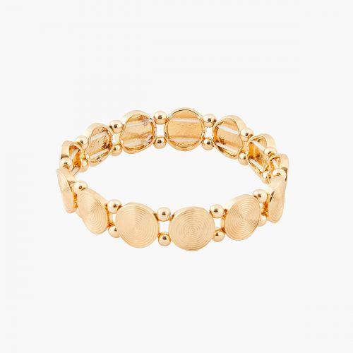Bracelet élastique doré Porto Vecchio