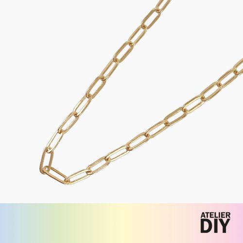 Collier chaine long maillon doré DIY