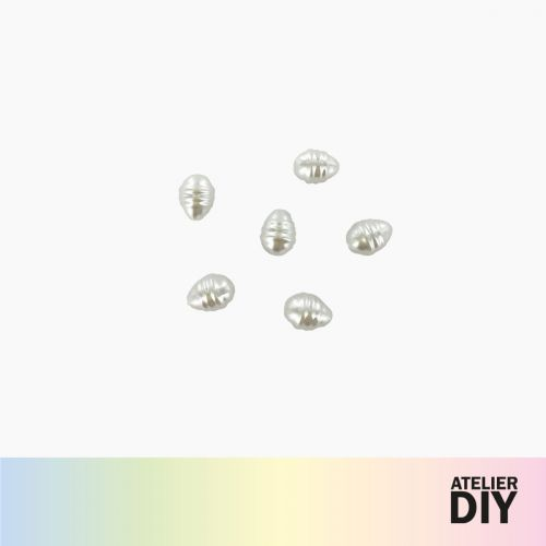 Perles d'imitation blanches DIY