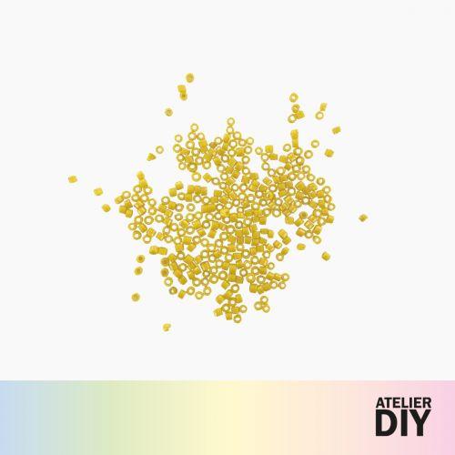 Perles Miyuki jaunes DIY