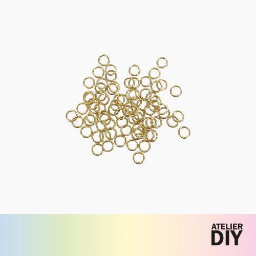 Set d'anneaux ouverts dorés DIY