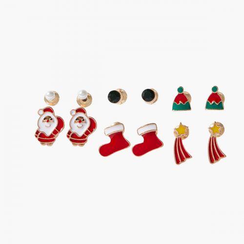 Set de puces d'oreilles rouge Xmas Party