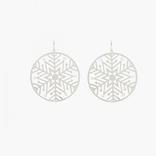 Boucles d'oreilles argentées Xmas Party