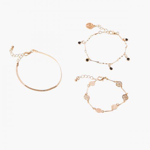 Set de bracelets doré Velours glitter