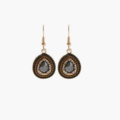 Boucles d'oreilles pendantes dorées Xmas Party