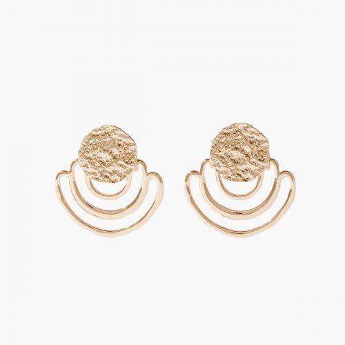 Boucles d'oreilles dorées Green & Good