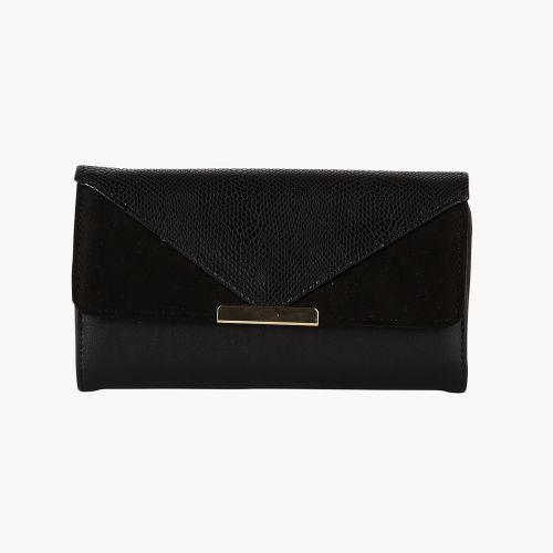 Portefeuille tri-matière noir
