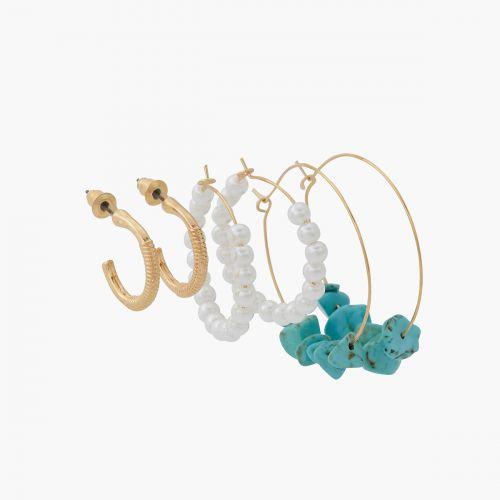 Set de créoles turquoise Mystic