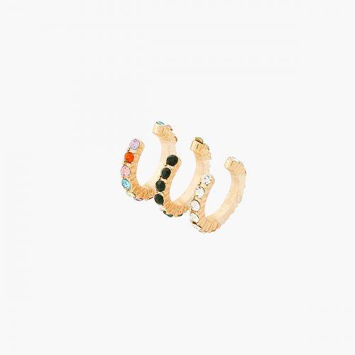 Set de bijoux d'oreilles doré Iconic B.O