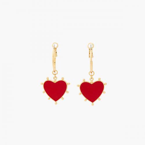Boucles d'oreilles pendantes rouges Vintage spirit