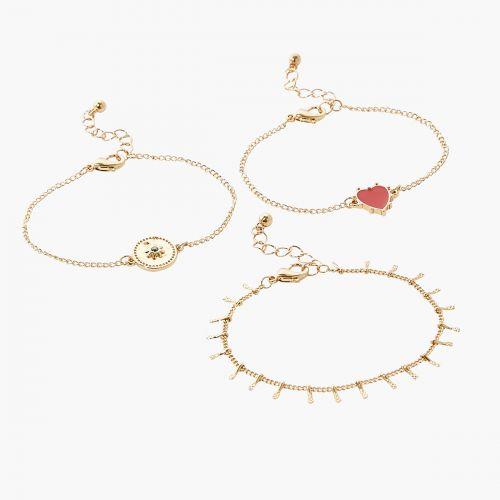 Set de bracelets rouge Vintage spirit
