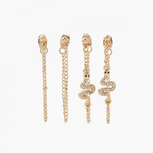 Set de boucles d'oreilles pendantes doré Neo Precious