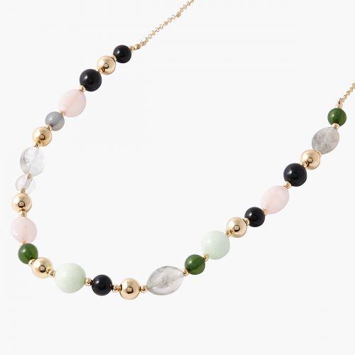 Sautoir perles multicolores Mystic