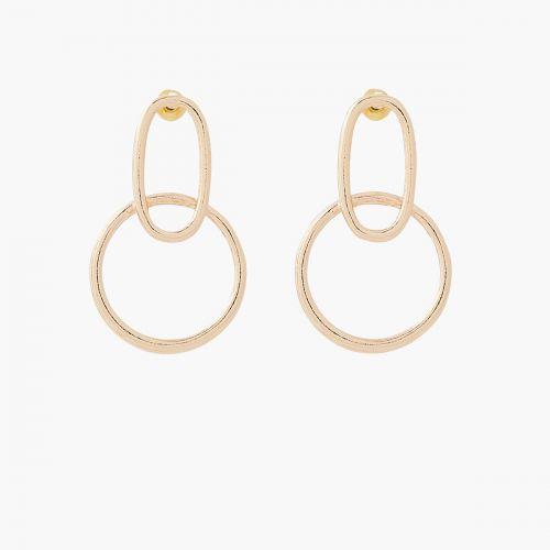 Boucles d'oreilles pendantes dorées City new