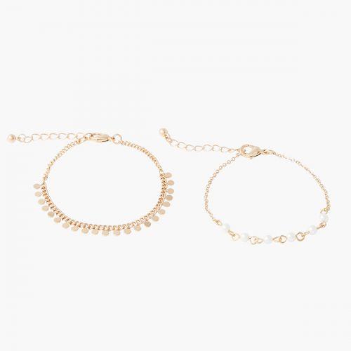 Set de bracelets doré New Pearl