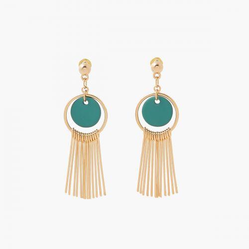 Boucles d'oreilles pendantes vertes Lima