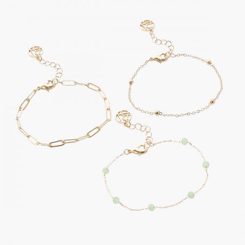 Set de bracelets vert Gren