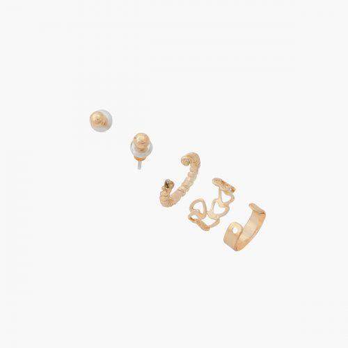 Set de boucles d'oreilles pendantes doré Vintage spirit