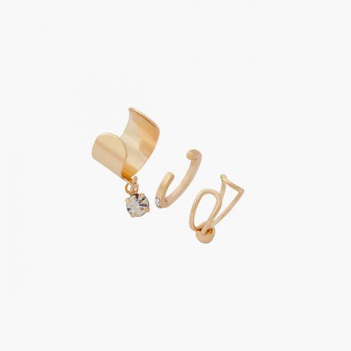 Set de bijoux d'oreilles doré Neo Precious