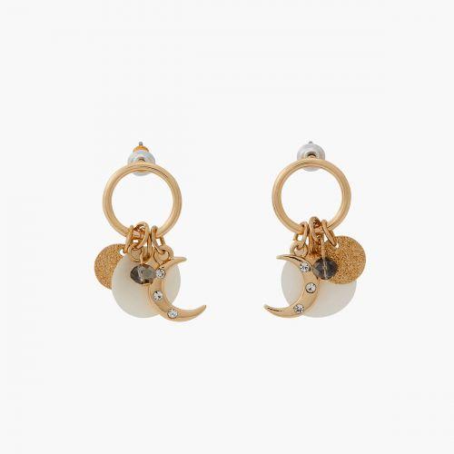 Boucles d'oreilles pendantes dorées Mystic