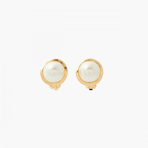 Boucles d'oreilles clips dorées New Pearl
