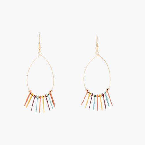 Boucles d'oreilles pendantes dorées Lima