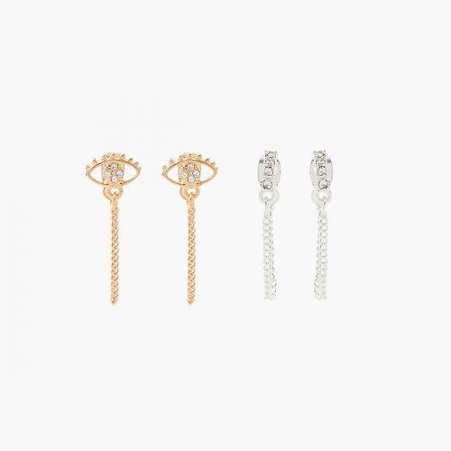 Set de boucles d'oreilles pendantes argenté Neo Precious