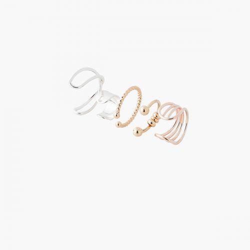 Set de bijoux d'oreilles argenté City Blush