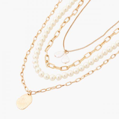 Set de colliers doré New Pearl