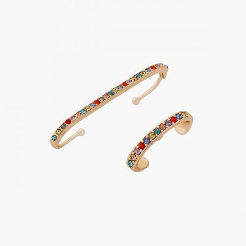 Set de bijoux d'oreilles multicolore Bar à chaines