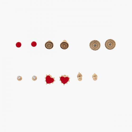 Set de boucles d'oreilles pendantes rouge Vintage spirit