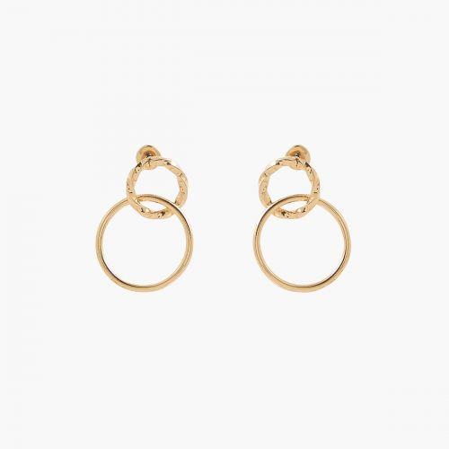 Boucles d'oreilles pendantes dorées Vintage spirit