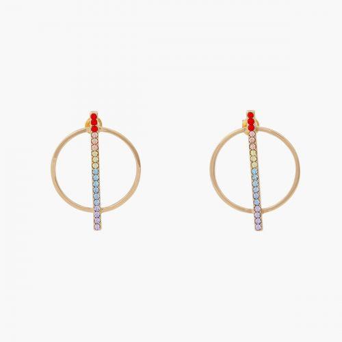 Boucles d'oreilles pendantes dorées Chain reaction