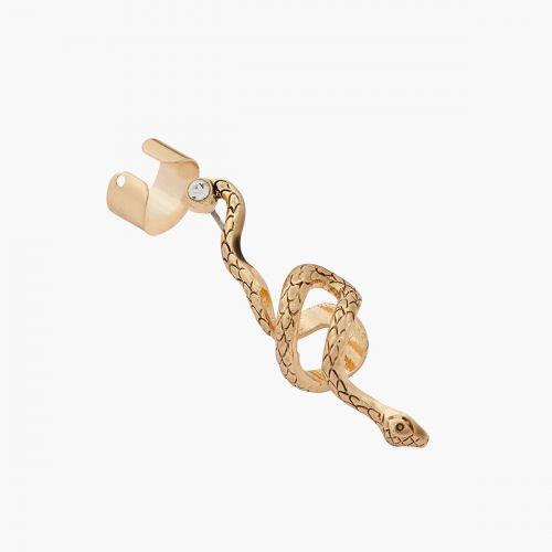 Set de bijoux d'oreilles serpent doré Céramique